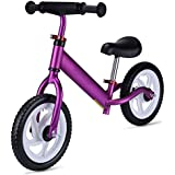 GOOGO バランスバイク 調節可能なハンドルバーシート 剥がれない幼児用自転車 18ヶ月から5歳のお子様向け