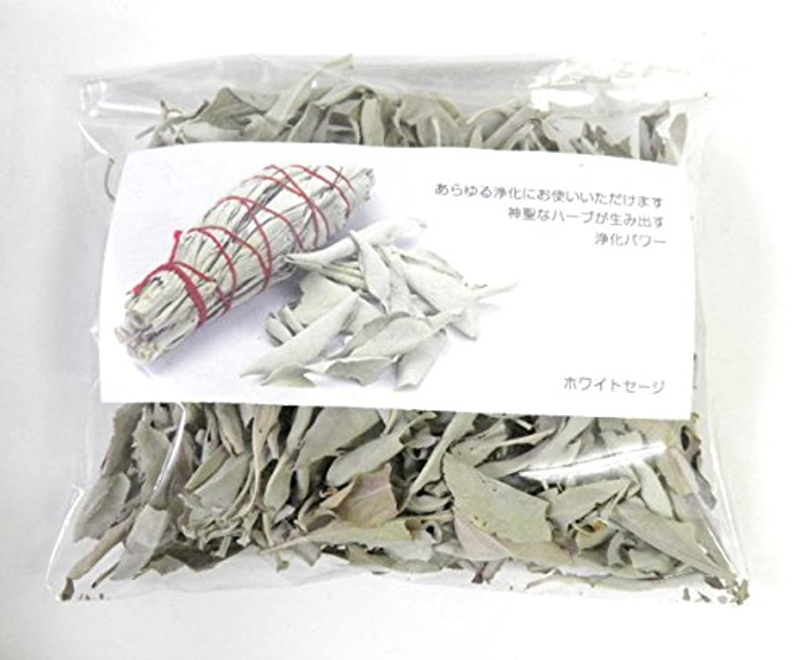 ペット戻す人生を作るホワイトセージ リーフのみ 約50g 浄化用 オーガニック 無農薬 お香 プロ用 パワーストーン