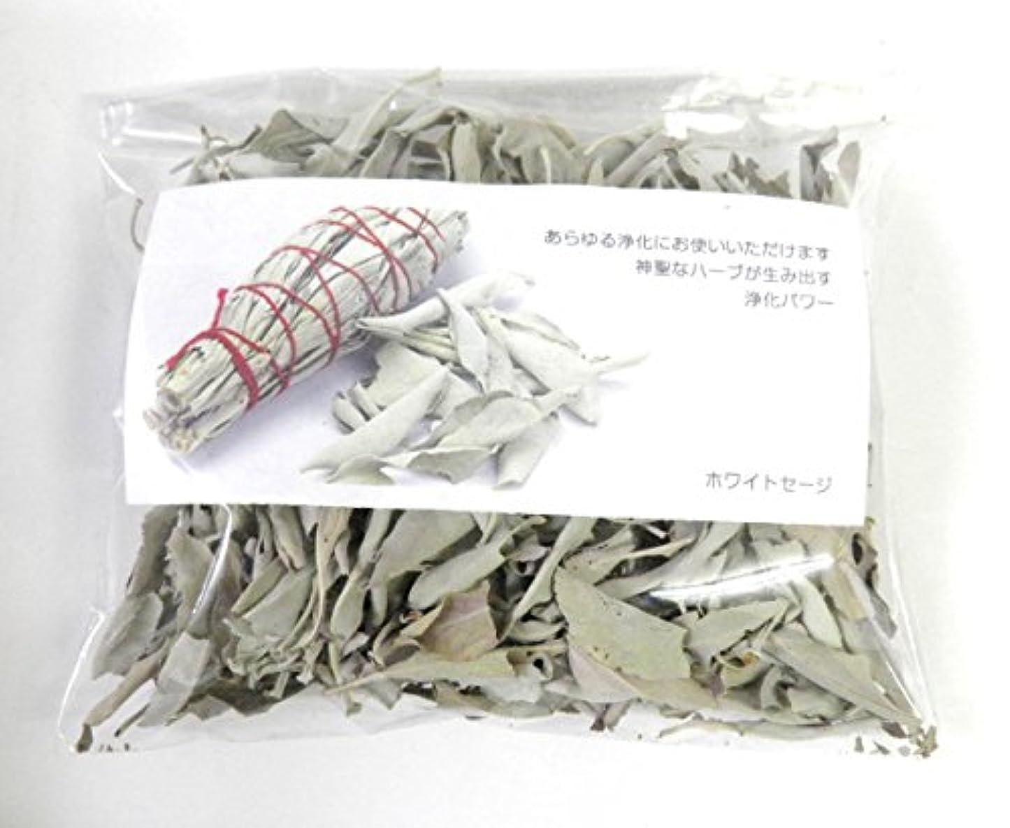 自然マルコポーロ現像ホワイトセージ リーフのみ 約50g 浄化用 オーガニック 無農薬 お香 プロ用 パワーストーン