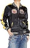 Hippies (ヒッピーズ) スカジャン MA-1 リバーシブル レディース メンズ パンク ロック 特攻服 長袖 黒 350-22