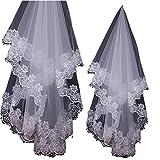 ウエディング ベール ( 純白 1.75M )( 花嫁 結婚式 ウエディングドレス ブライダル レース アクセサリー )