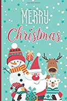 Merry Christmas: College Ruled Lined Writing Notebook, 120 Pages (6x9 Journal)