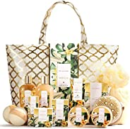 Spa Luxetique Spa Gift Basket, Vanilla Gift Baskets for Women, Luxury 15 Pcs Bath Gift Set, Relaxing at Home B