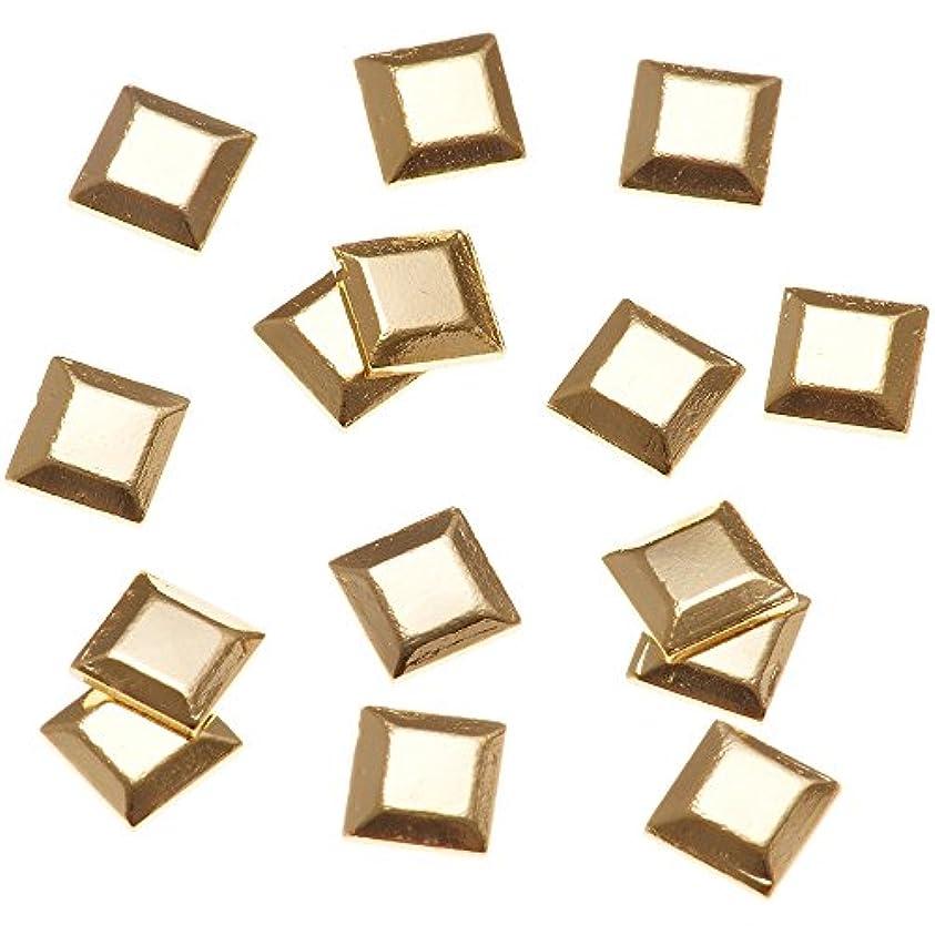 調和倫理的着るリトルプリティー ネイルアートパーツ スタッズスクエア ゴールド 50個