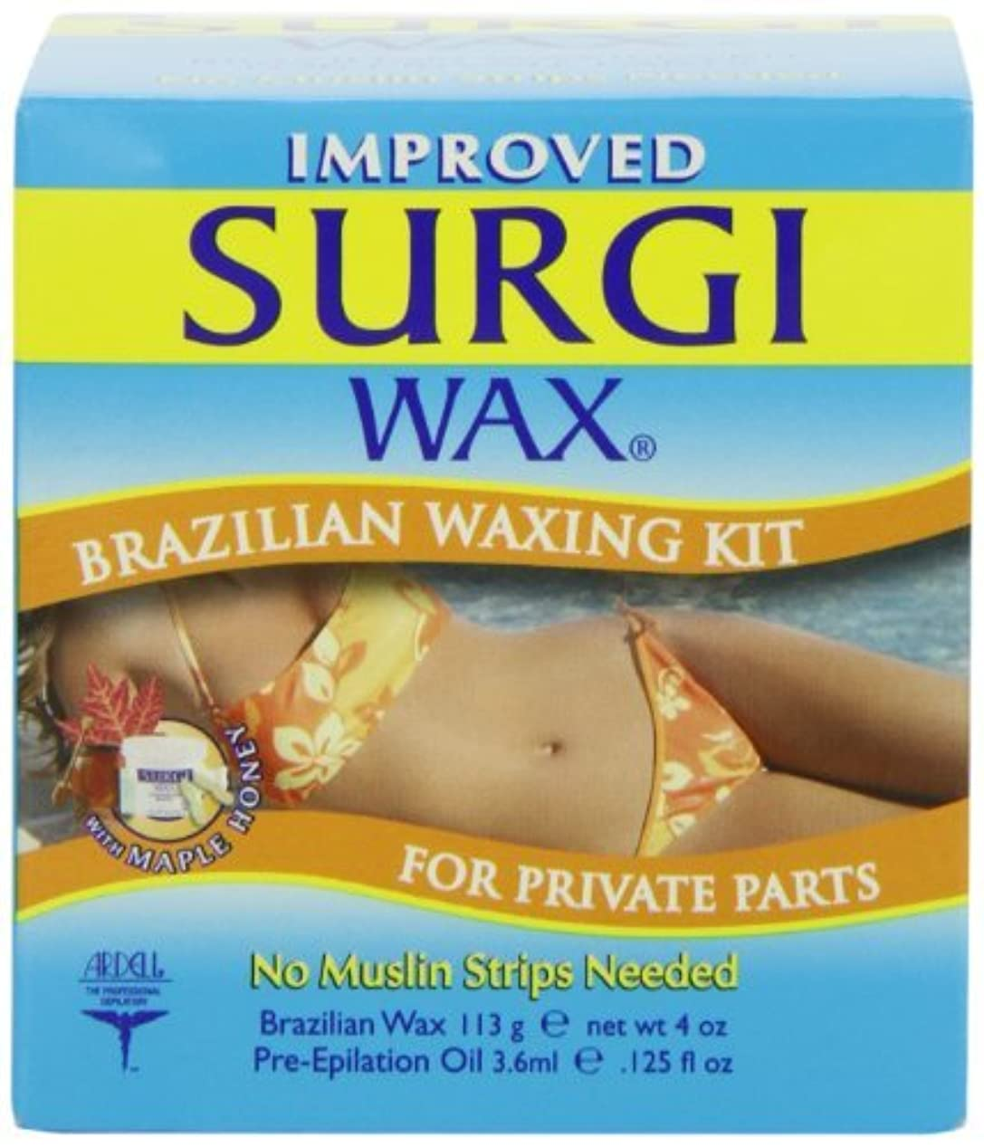 ストリップリード方程式ブラジリアン ワックス (ビキニライン用) Brazilian Waxing Kit For Private Parts【並行輸入品】
