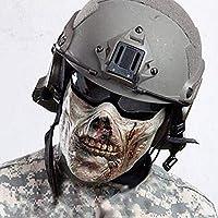 B&T耐久性のあるハーフフェイスプロテクションギアZombie Skull Mask for Paintball Airsoft Evil Halloween Cosplay (B)