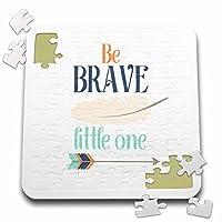 Janna Salak Designs Boho–Be Brave Little One–10x 10インチパズル( P。_ 252125_ 2)