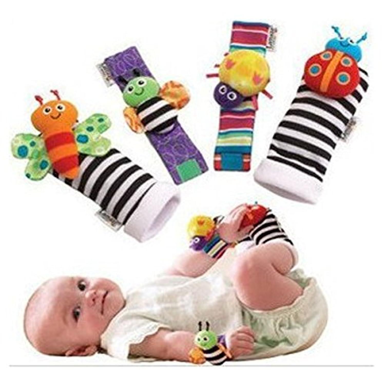 手首用ラトルソックス 幼児 ぬいぐるみ 人形 動物 手首 ガラガラ おもちゃ ソフトリストストラップ