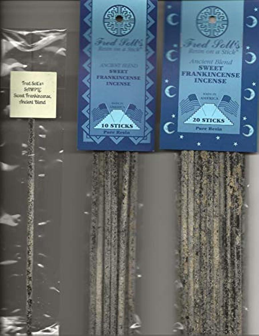 前洪水戻るFRED SOLL'S 樹脂製スティック付きスイート乳香 古代ブレンド香 (1)
