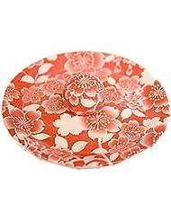 9-27 桜友禅 赤 9cm香皿 お香立て お香たて 陶器 日本製 製造 直売