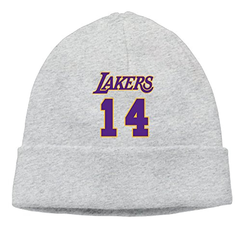 TAKAL ユニセックス ツートン ファッション スポーツ レイカーズ ブランドン 背番号14 バスケ選手 ニット帽 ヘルメット グレー