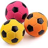 Chiwava 3個 6cm 犬音の出るラテックスゴムおもちゃ ボールおもちゃ 中型犬に適用 インタラクティブ音の出る噛むおもちゃ