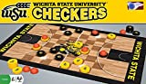 MasterPieces NCAA Wichita State Shockers Basketball Checkers Board Game [並行輸入品]