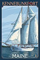 Kennebunkport、メイン州–ヨットシーン 24 x 36 Giclee Print LANT-52711-24x36