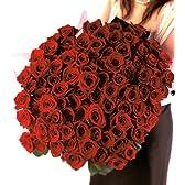 花のギフト社 赤バラ花束 100本フラワーギフト