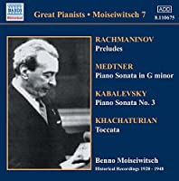 Great Pianists: Benno Moiseiwitsch Compl Recordg 7