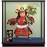五月人形 久月 ケース飾り 武者人形 豪貴 祝太刀 8号 慶印8 h315-k-keiin8 K-144