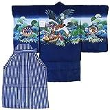 【着物問屋】七五三男の子用羽織袴フルセット<br>【紺地に鷹】<br>五才/五歳/5才/男児
