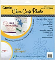 "Craft Plastic Sheets 12""X12"" 4/Pkg-Clear .007 (並行輸入品)"