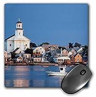 3drose USAケープコッドMassachusetts Provincetown港と町マウスパッド(MP 192153_ 1)