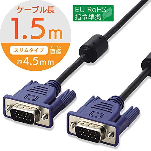 RoHS準拠 D-Sub15ピン(ミニ)ケーブル CAC-15BK/RS
