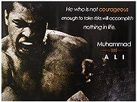 モハメド アリのポスター 勇気を促す名言アートプリント 18 × 24インチ