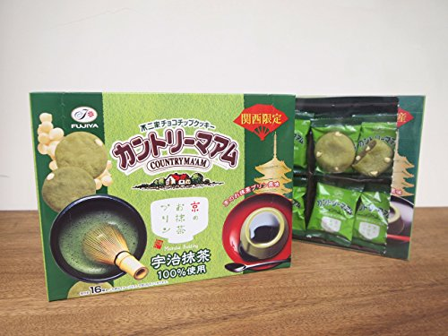 【関西限定】16枚カントリーマアム(京のお抹茶プリン風味)