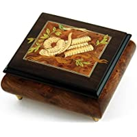 ゴージャスなHand Made Musical Jewelry Box with Torah Wood Inlay 167. Hukilo Song. The (Jack Owens) - SWISS (+$25) ゴールド MBA17TORAH