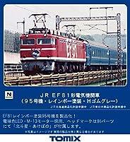 TOMIX Nゲージ JR EF81形電気機関車 95号機 レインボー塗装 Hゴムグレー 7153 鉄道模型 電気機関車