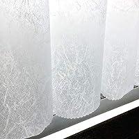 防水 遮像 おしゃれな お風呂 カフェカーテン 「パウダー」 [プライバシー保護 和紙 透かし 模様 シンプル かわいい キッチン 目隠し] (幅 140cm × 丈 60cm, ホワイト)
