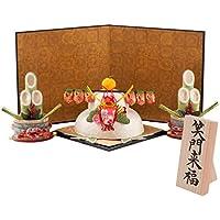 (ファンファン) FUN fun 正月飾り 迎春飾り 鏡餅 鏡もち 特大お正月セット ちぎり和紙 笑門来福 間口55*奥行35*高さ30(約cm) 日本製