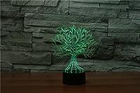 3dツリーナイトライトタッチテーブルデスクOptical Illusionランプ7色変更ライトホーム装飾クリスマス誕生日ギフト