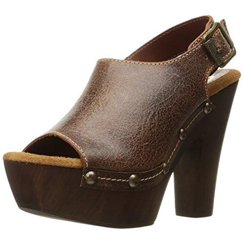 Sbicca Women's Ablaze Heeled Sandal Brown 9 B US [並行輸入品]