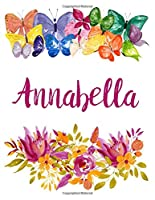 Annabella: Flower Notebook Writing Journal for Girls,Personalized With Name,  Personalized Writing Journal,Notebook for Women and Girls, Personalized Notebook/Journal Gift