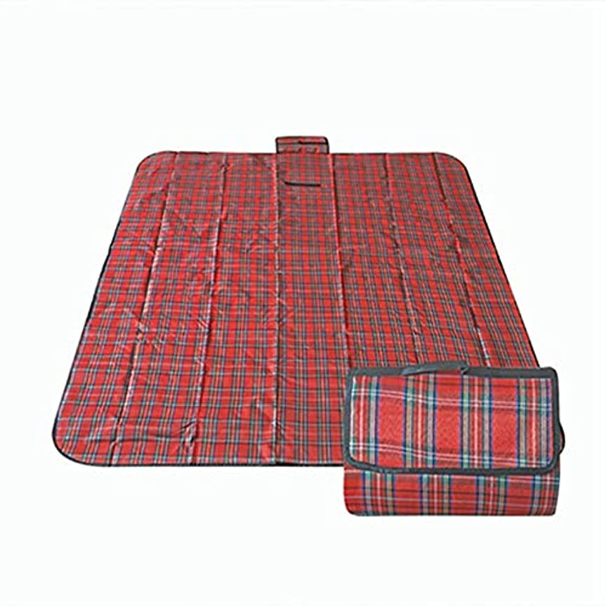 荒らすレザー打たれたトラックEgurs 180 * 150センチピクニック毛布クラシック赤チェック柄屋外毛布ビーチマット防水バッキング