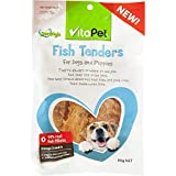 Vita Pet Jerhigh Fish Tenders, Dog Treats, for Adult Dogs and Puppies, Small/Medium/Large dogs, 80g