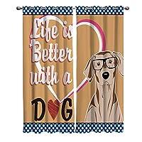 カーテン ペット 犬 生活 カーテン遮光 セットカーテン 断熱 節電対策 防寒 一人暮らし 洗濯可 9サイズから選ベる 祝日プレゼント 幅135cm/丈135cm(1枚)2枚組