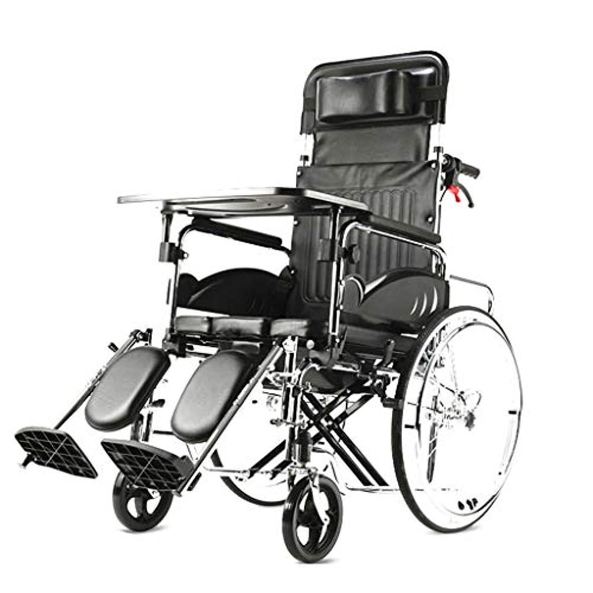 ファイル旋律的びっくりする車椅子折りたたみ式、4つのブレーキデザイン、アルミニウム合金、高齢者障害者用車椅子ワゴン