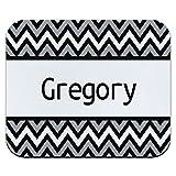 GREGORY グレゴリーブラック and グレーシェブロンマウスパッド