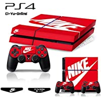 Ci-Yu-Online [PS4] ShoeBox Nike Logo Shoe Box Light Bar Whole Body VINYL SKIN STICKER DECAL COVER for PS4 Playstation 4 System Console and Controllers [並行輸入品]