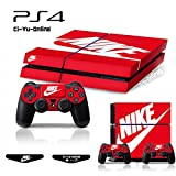 ナイキ シューズ Ci-Yu-Online [PS4] ShoeBox Nike Logo Shoe Box Light Bar Whole Body VINYL SKIN STICKER DECAL COVER for PS4 Playstation 4 System Console and Controllers [並行輸入品]