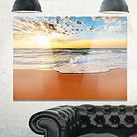 Design Art MT10569-20-12 シーアンドショア レッドメタル ウォールアート、レッド、20x12