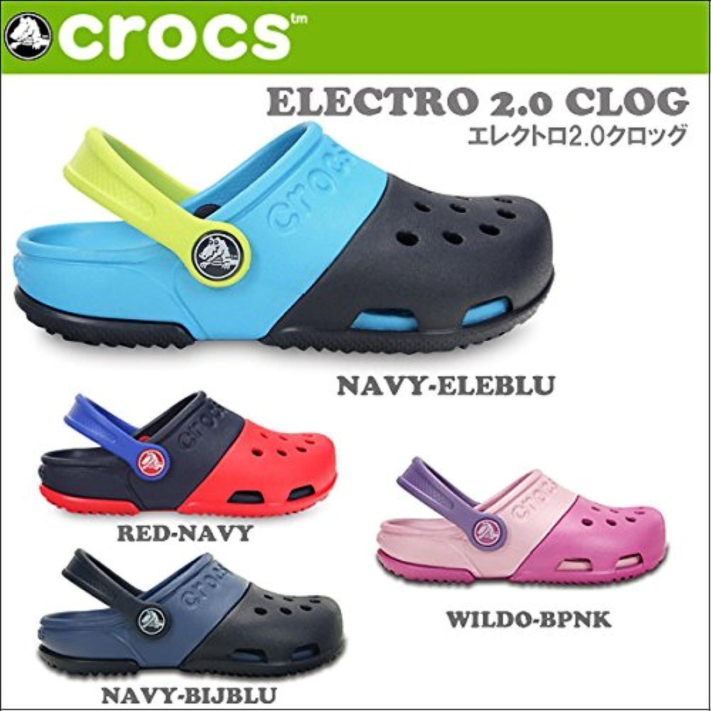 (クロックス) CROCS サンダルELECTRO 2.0 CLOG/キッズ ジュニア 国内正規品 crs-053 12cm NAVY-ELEBLU