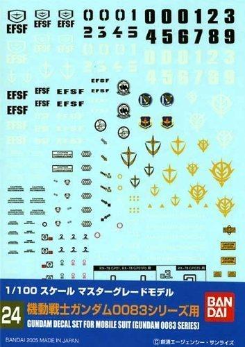 ガンダムデカール24 1/100 MG 機動戦士ガンダム0083シリーズ用