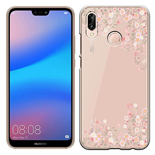 「Breeze-正規品」iPhone ・ スマホケース ポリカーボネイト [透明-Pink] HUAWEI P20 lite SIMフリーファーウェイ p20 lite カバー 液晶保護フィルム付 全機種対応 [P20L]