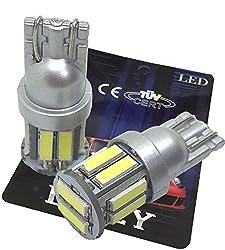 (ライミー)LIMEY 最新! 5W級 爆光 T10 LED バルブ ホワイト 白 ポジション ウエッジ SMD7020 10連×2SMD 20チップ搭載 6000K 映り込みしないシルバータイプ ナンバー ルームランプ 取説&保証書付 2個入 【ベース:シルバー】 L-T10W7020SL2
