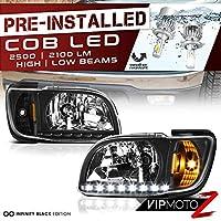 社外 ヘッドライト 01-04 トヨタ タコマ Tacoma ブラック LED DRL 1PC CREE LED ロービーム 内蔵