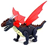 Dino Valley Winged Dragon Battery Operated Walking Toy Dinosaur Figure w/ Realistic Movement, Eyes & Wings Light Up