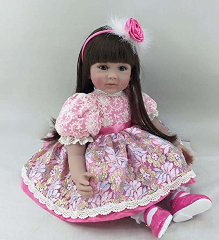 oumeinuo Rebornベビー人形ソフトSiliconeビニール22インチ55 cm Lovely Lifelikeキュート赤ちゃん男の子女の子おもちゃピンク幼児用ベビー人形Cute Girl