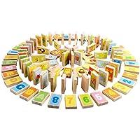 MING TA A8155 100ピース 早期教育と知恵ドミノ 組み立て木製 子供 おもちゃ 知育玩具 知育チェスとカードボックス